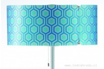 Stínítko (3-dílné) T1951 modrý hexagon