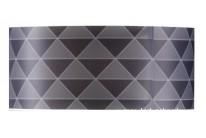 Stínítko (3-dílné) T1951 černo - hnědé trojúhelníky